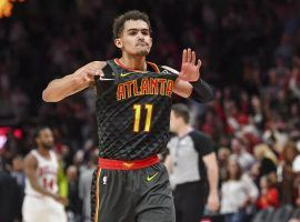 Atlanta Hawks Trae Young saw a huge jump in his fantasy basketball production last season. (Image: Dale Zanine/USA Today Sports)