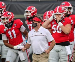 No. 9 Georgia's SEC East Counterparts Missouri (Music City Bowl), Tennessee (Liberty Bowl), and South Carolina (Gasparilla Bowl) all ended their seasons prematurely as COVID-19 outbreaks called off their bowl games. Now Georgia, with an unknown number of players out due to COVID-19 positive testa and contact tracing protocol, may be next in line to bow out. If they choose to play, they'll face No. 6 Cincinnati in the Peach Bowl on New Year's Day. (Image: AP)