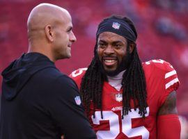 San Francisco defensive coordinator Robert Saleh is the +550 favorite to be hired as the next Detroit Lions head coach, and got high praise from cornerback Richard Sherman. (Image: Getty)