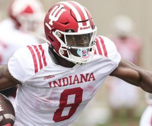 Showing NFL-ready speed and skill, Indiana's junior running back Stevie Scott III is a bright spot for the 5-1 Hoosiers and all of college football this season. (Image: AP)