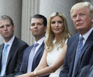 Eric, Donald Jr. Ivanka, President Trump pardon