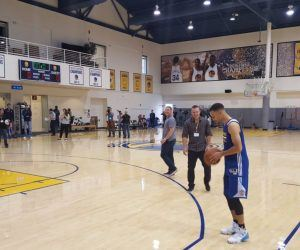 The Golden State Warriors will delay opening training camp at least one day after two players arrived at the team facilities Tuesday with COVID-19. Individual workouts will start as planned on Wednesday. (Image: AP)