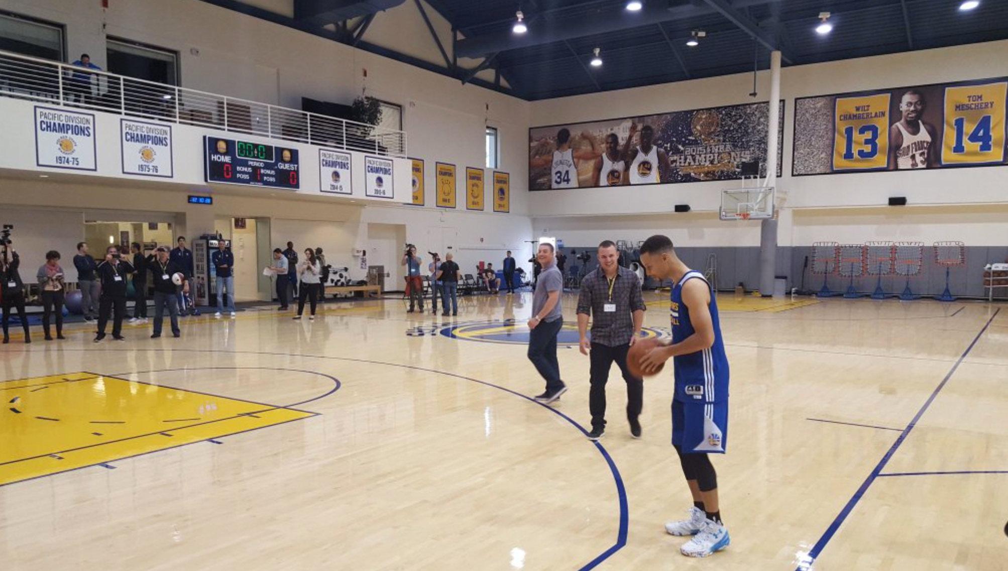 Golden State Warriors practice