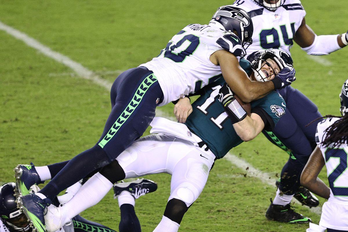 Philadelphia quarterback Carson Wentz Seattle bad beat