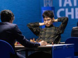 Alireza Firouzja took over the lead at the Tata Steel Masters after defeating Pentala Harikrishna to score his third straight win. (Image: Jurriaan Hoefsmit/Tata Steel Chess Tournament 2021)