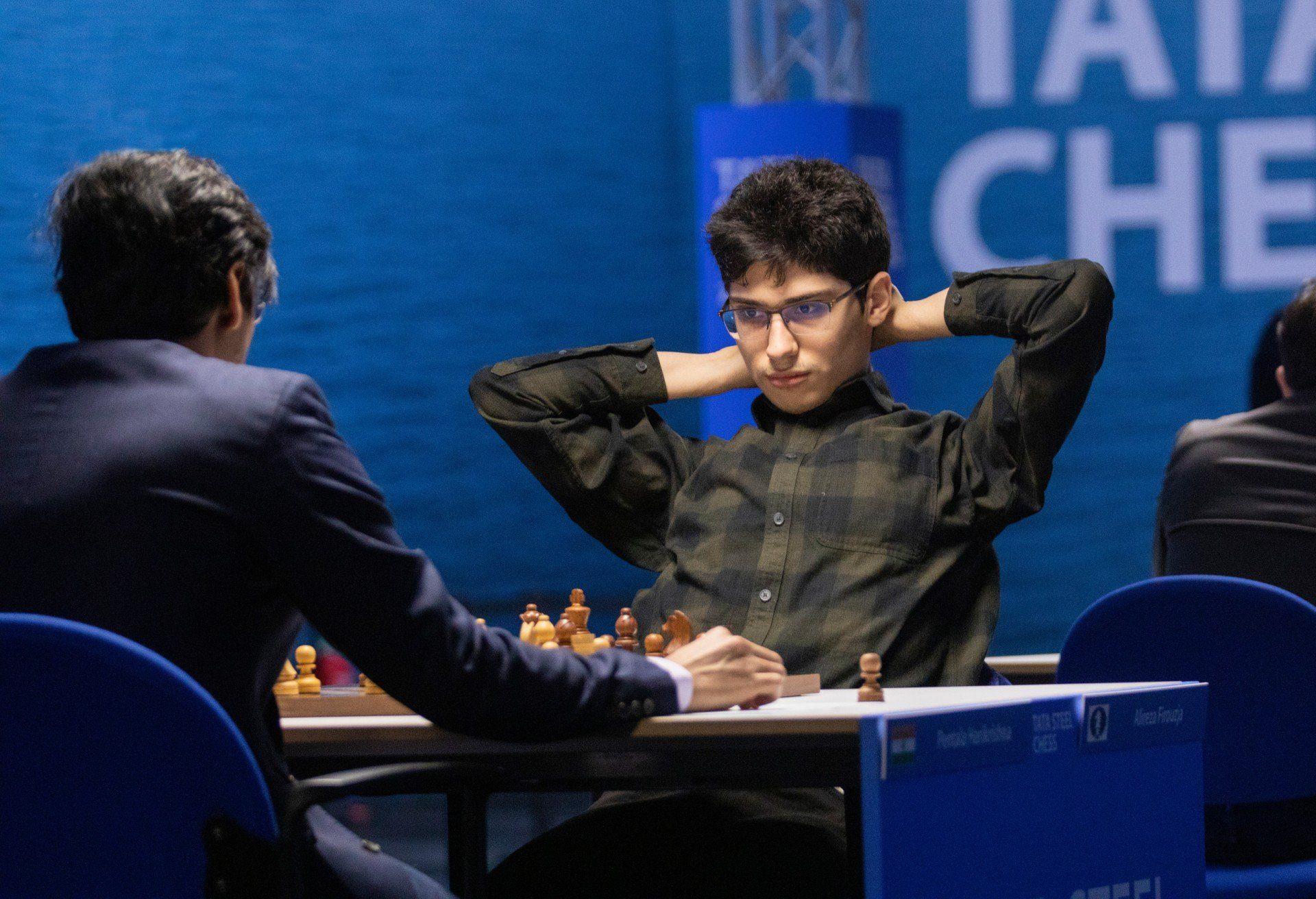 Peluang Catur Tata Steel Carlsen Firouzja