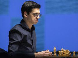 Anish Giri picked up another win on Wednesday, vaulting him into the lead at the Tata Steel Masters. (Image: Jurriaan Hoefsmit/Tata Steel Chess Tournament 2021)