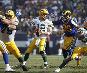 NFC Divisional Round Betting Preview Green Bay Packers LA Rams Aaron Rodgers Donald
