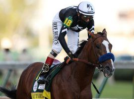Authentic carried jockey John Velazquez to a Kentucky Derby title in September and his connections to an Eclipse Award as 2020 Horse of the Year. (Image: Gregory Shamus/Getty)