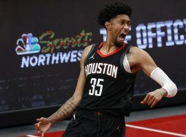Christian Wood leads the Houston Rockets in scoring this season after signing a lucrative three-year, $41 million contract in the offseason. (Image: Suzanne Greenberg/Getty)