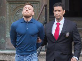 Conor McGregor has faced legal issues throughout his career, including an arrest after UFC 223. (Image: The Mega Agency)