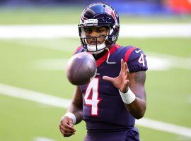 Deshaun Watson wants the Houston Texans to Trade him, but will the New York Jets make a deal? Watson led the NFL in passing in 2020 despite losing his favorite WR De'Andre Hopkins. (Image: Carmen Mandato/Getty)
