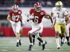 DeVonta Smith looks to run wild against Ohio State as he did two weeks ago against Notre Dame. (Image: NBC News)
