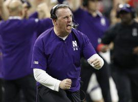 Head Coach Pat Fitzgerald, seen here on the sidelines of a Big Ten football game in 2018, signed a ten-year contract extension with Northwestern. (Image: Joe Robbins/Getty)