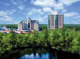 Foxwoods Casino, opened in 1996, has struggled during the pandemic. Online sports betting could mitigate those losses for both Foxwoods and Mohegan Sun.  (image: Foxwoods)