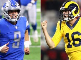 Quarterbacks Matthew Stafford (left) and Jared Goff (right) will switch teams in a trade after the Detroit Lions shipped Stafford to the LA Rams for Goff and draft picks. (Images: Getty)