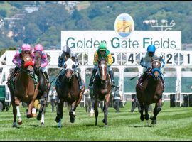 Golden Gate Fields received the go-ahead to re-open after a COVID-19 epidemic ravaged the track's employees. The Northern California track closed for two months. (Image: Golden Gate Fields)