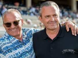 California grape farmers Kosta (left) and younger brother Pete Hronis may have harvested a Kentucky Derby prospect in Rock Your World. He is (Image: Benoit Photo)