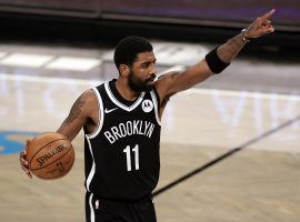 Kyrie Irving of the Brooklyn Nets directing floor traffic at the Barclay's Center. Irving missed the last four games for personal reasons and his return is unknown. (Image: Getty)