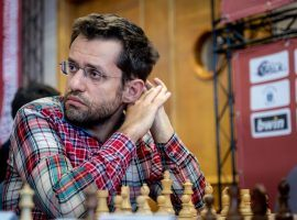 Levon Aronian (pictured) advanced to the finals of the Airthings Masters, where he'll battle Teimour Radjabov for the title. (Image: Niki Riga)