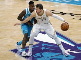 Dallas Mavericks All-Star Luka Doncic, seen here against the Charlotte Hornets, faces a tough matchup against the Greek Freak and the Milwaukee Bucks on Friday. (Image: Jared C. Tilton/Getty)