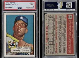 This Mickey Mantle rookie sold for $5.2 million on Thursday, a record for a sports card. (Image: PWCC)