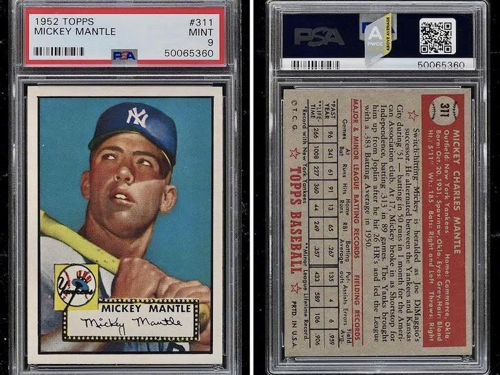 Mantle 52 Topps