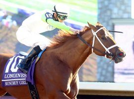 After winning her second Breeders' Cup Distaff in three years last November, Monomoy Girl returns for her 6-year-old season Feb. 15 at the Bayakoa Stakes at Oaklawn Park. (Image: Coady Photography)