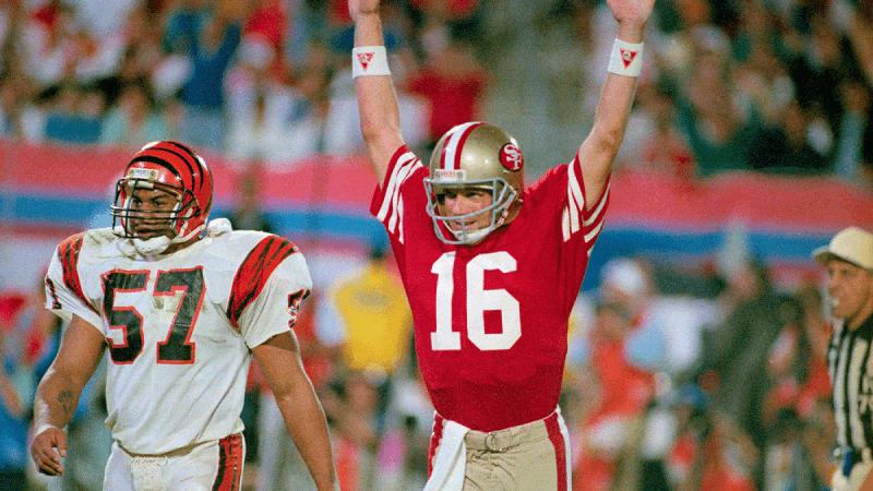 Super Bowl XVI Joe Montana San Francisco 49ers