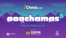 Chess.com announced that the PogChamps 3 chess tournament will begin on Feb. 14. (Image: Chess.com)