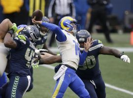 Quarterback Jared Goff came off the bench to lead the LA Rams to victory against the Seattle Seahawks in the NFC Wild Card. The Rams and a banged-up Goff are a prop bet favorite to finish the divisional round as the lowest-scoring team. (Image: Jae C. Hong/AP)