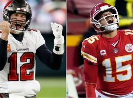 Tom Brady and the Tampa Bay Buccaneers take on Patrick Mahomes and the Kansas City Chiefs in Super Bowl 55, and the first big bet has been made on the Bucs. (Images: Getty)