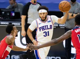 Seth Curry of the Philadelphia 76ers scored a season-high 28 points against the Washington Wizards. Curry is a popular waiver wire addition to fantasy basketball teams this week. (Image: Bill Streicher/USA Today Sports)