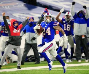 Taron Johnson Buffalo Bills Pick-6 Baltimore Ravens AFC Championship Game