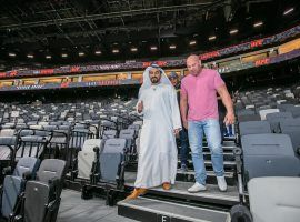 Etihad Arena on Fight Island will host up to 2,000 fans for each UFC card in January. (Image: @etihadarena_ae/Twitter)