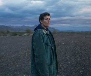 Frances McDormand stars in Nomadland, the story of a woman who lost everything in the Great Recession and drives around the US in her van. At +150 the film is the current favorite for the 2021 Oscars' best picture. (Image: Searchlight Pictures)