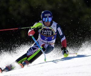 Speedy Brit Dave Ryding is coming off a podium finish last week in Adelboden. At +3300 why not take a shot at the Manchester native finishing atop the podium at one of two men's World Cup slalom events in Flachau? (Image: Getty)