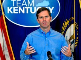 Kentucky Gov. Andy Beshear said he will sign a bill legalizing historical horse racing machines the moment it hits his desk. (Image: Timothy D. Easley/Associated Press)