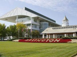 Arlington Park, located in the Chicago suburbs, is one of North America's top race tracks. Owner Churchill Downs Inc. put it up for sale Tuesday, imperiling its racing future. (Image: Arlington Park)