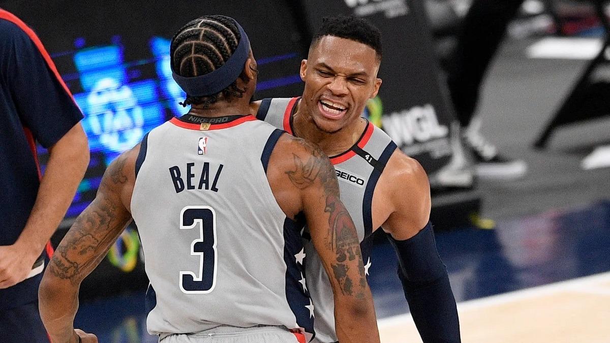 Russell Westbrook Bradley Beal COmeback Washington Wizards Win Beat Brooklyn Nets