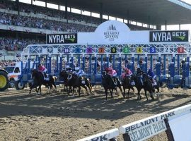 The 153rd Belmont Stakes moves back to 1 1/2 miles and its early June starting date. It headlines a massive day of racing at Belmont Park June 5. (Image: Chelsea Durand/NYRA/Coglianese Photos)