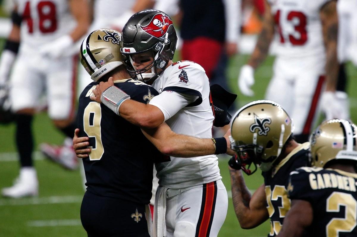 Drew Brees Tom Brady NFL All-Time List Passing Touchdowns QB TDs