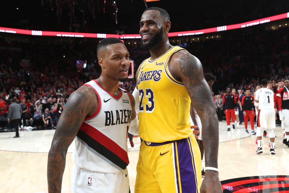 NBA Weekend Betting Preview Damian Lillard LeBron James Portland Trail Blazers LA Lakers Clippers Bucks