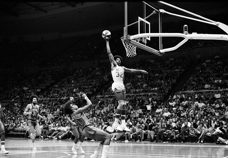 Dr J Julius Erving dunks ABA Dr. J