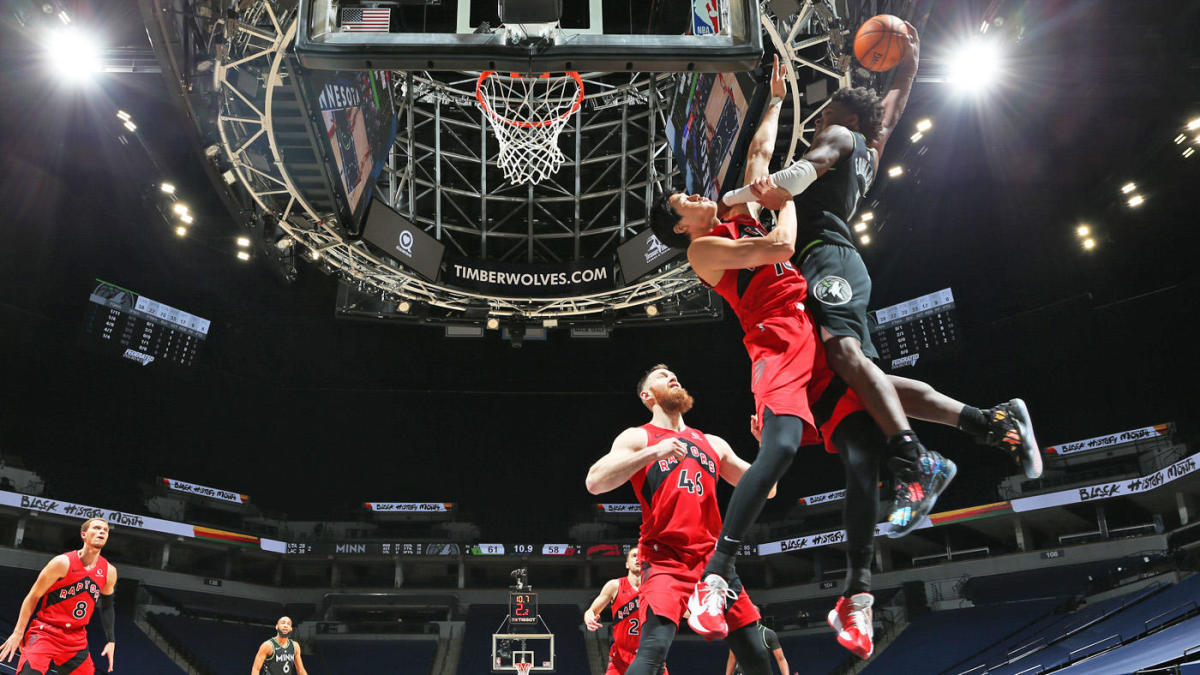 Anthony Edwards rookie dunk of the year minnesota timberwolves
