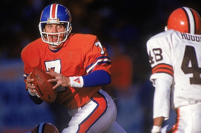 John Elway Denver Broncos passing touchdown