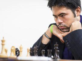 Hikaru Nakamura came up just short of qualifying for the quarterfinals in the Opera Euro Rapid. (Image: Lennart Ootes/Saint Louis Chess Club)