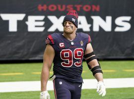 JJ Watt, seen here playing in one of his last home games with the Houston Texans. (Image: Marco Esquondoles/Getty)