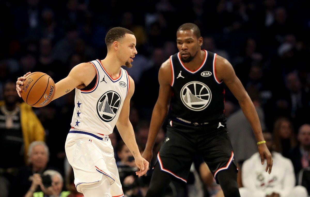 Steph Curry Kevin Durant Golden State Warriors Brooklyn Nets Jazz Bucks Utah Milwaukee