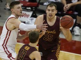 Loyola Chicago center Cameron Krutwig leads the Ramblers in scoring this season. (Image: AP)